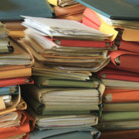 30448479 - stacked office files: pile of paperwork in an office